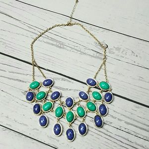 Statement necklace turquoise blue